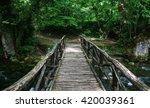 View On Wooden Bridge In Green...
