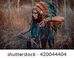 Indian Woman Portrait Outdoors. ...