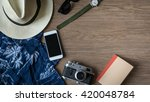 flat lay of holiday background  ... | Shutterstock . vector #420048784