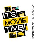 it's movie time   vector... | Shutterstock .eps vector #420049069