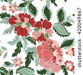 beautiful floral seamless... | Shutterstock .eps vector #420049867