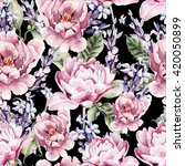 watercolor seamless pattern... | Shutterstock . vector #420050899