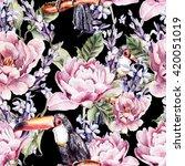 watercolor seamless pattern... | Shutterstock . vector #420051019