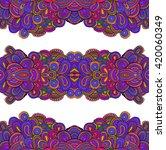 seamless doodle pattern  vector ... | Shutterstock .eps vector #420060349