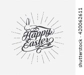 happy easter vector design.  | Shutterstock .eps vector #420062611