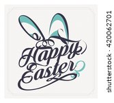 happy easter nature background... | Shutterstock .eps vector #420062701
