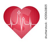 business and science heart... | Shutterstock .eps vector #420063805