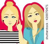 fashion girls | Shutterstock .eps vector #420070471