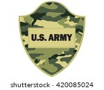 Camouflage shields U.S. Army.Vector