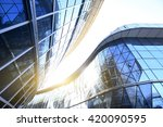 glass curtain wall of modern... | Shutterstock . vector #420090595