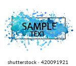 vector hand painted blue... | Shutterstock .eps vector #420091921