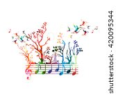colorful music background with... | Shutterstock .eps vector #420095344