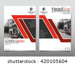 red line technology annual... | Shutterstock .eps vector #420105604