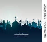 ramadan kareem greeting card... | Shutterstock .eps vector #420112609