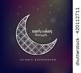 crescent moon shape with... | Shutterstock .eps vector #420112711