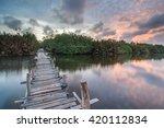 long exposure shot of abandon... | Shutterstock . vector #420112834
