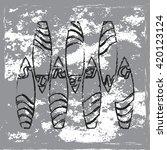 grunge design   surfing design  ... | Shutterstock .eps vector #420123124