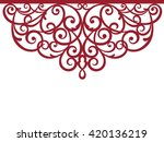 greeting card  laser cut pattern | Shutterstock .eps vector #420136219