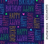 happy birthday seamless pattern | Shutterstock .eps vector #420144595