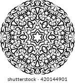 tribal tattoo circular vector...   Shutterstock .eps vector #420144901