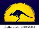 kangaroo jumping designed on... | Shutterstock .eps vector #420154384