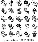 flower icon collection   vector ... | Shutterstock .eps vector #420160009