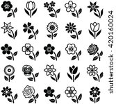 flower icon collection   vector ... | Shutterstock .eps vector #420160024