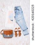 white t shirt with print  light ... | Shutterstock . vector #420160225