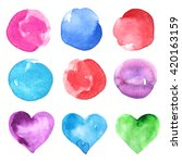 watercolor splashes isolated on ... | Shutterstock . vector #420163159