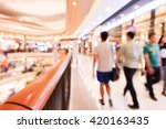 blur image of shopping mall and ... | Shutterstock . vector #420163435