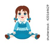 Doll. Children's Toy. Vector...