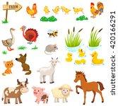 Vector Set Of Farm Animals