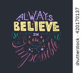lettering motivation poster.... | Shutterstock .eps vector #420170137