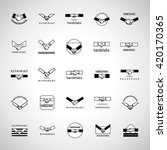 handshake icons set isolated on ... | Shutterstock .eps vector #420170365
