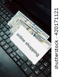 online shopping. money on the...   Shutterstock . vector #420171121