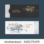 premium gift voucher template. | Shutterstock .eps vector #420175195