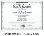 beautiful vector certificate... | Shutterstock .eps vector #420175201