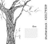 beautiful graphics tree trunk.... | Shutterstock .eps vector #420179509