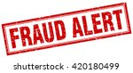 fraud alert red grunge square... | Shutterstock .eps vector #420180499
