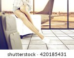 travel time and white shoes and ... | Shutterstock . vector #420185431