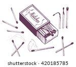 maches sketch. vector  | Shutterstock .eps vector #420185785