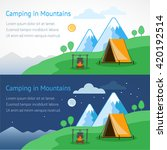 camping in mountains vector... | Shutterstock .eps vector #420192514