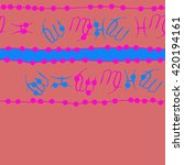 seamless horizontal pattern of... | Shutterstock . vector #420194161