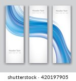 design set of vertical modern... | Shutterstock .eps vector #420197905