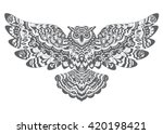 stylized decorative vector owl. ... | Shutterstock .eps vector #420198421