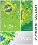 polygon brazil flag  brazilian... | Shutterstock .eps vector #420213655