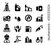 oil industrial icon set | Shutterstock .eps vector #420223324