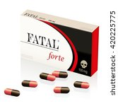 fatal  lethal  deadly pills ... | Shutterstock .eps vector #420225775