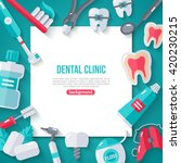 dentistry banner with flat... | Shutterstock .eps vector #420230215