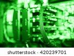 horizontal green gpu quad sli... | Shutterstock . vector #420239701